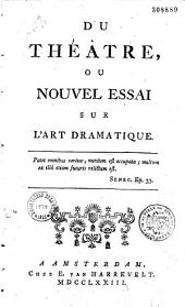 Du Théâtre ou Nouvel essai sur l'art dramatique