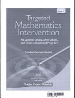 Targeted Math Intervention  Level K Kit PDF