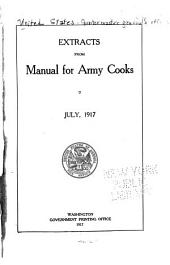 Extracts from Manual for Army Cooks: July, 1917