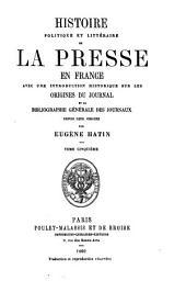 Histoire politique et littéraire de la presse en France: Numéro5