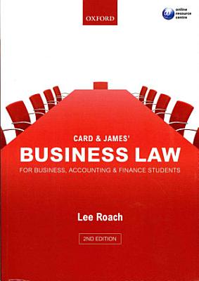 Card   James  Business Law for Business  Accounting    Finance Students