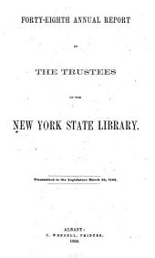 New York State Library [annual Report]: Volumes 48-51