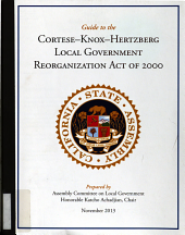 Guide to Cortese Knox Hertzberg Local Government Reorganization Act of 2000 PDF