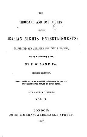 The Thousand and One Nights  Or  The Arabian Nights Entertainments PDF
