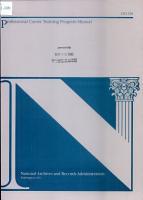 Professional Career Training Program Manual PDF