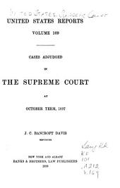 United States Reports: Cases Adjudged in the Supreme Court, Volume 169