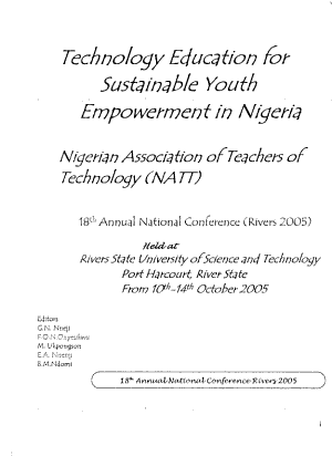 Technology Education for Sustainable Youth Empowerment in Nigeria PDF