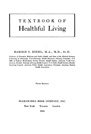 Textbook of Healthful Living