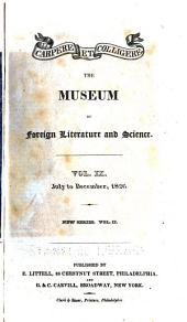 The Museum of Foreign Literature, Science, and Art: Volume 9