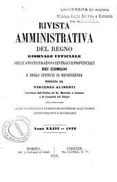 Rivista amministrativa del Regno: giornale ufficiale delle amministrazioni centrali, e provinciali, dei comuni e degli istituti di beneficenza