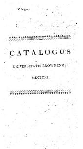 Catalogus Universitatis Brownensis, 1811