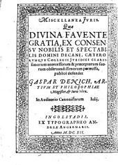 Miscellanea iuris