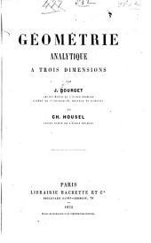 Géométrie analytique à trois dimensions