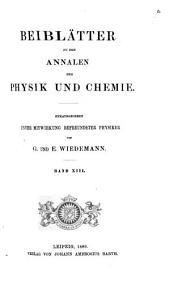 Beiblätter zu den Annalen der Physik und Chemie: Band 13