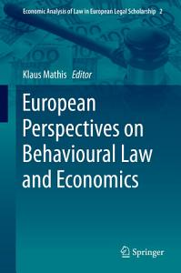 European Perspectives on Behavioural Law and Economics PDF
