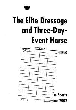 The Elite Dressage and Three day event Horse