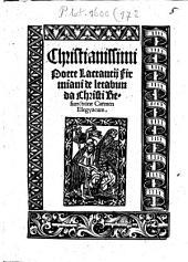 De lactabunda Christi resurrectione: carmen elegyacum