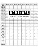 Dominoes Score Record Book PDF