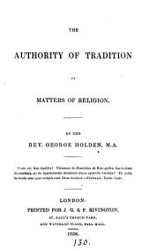 The authority of tradition in matters of religion