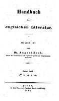 Handbuch der englischen Literatur PDF