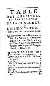 Méditations sur la concorde de l'Evangile avec le texte de la Concorde des Quatre Evangiles