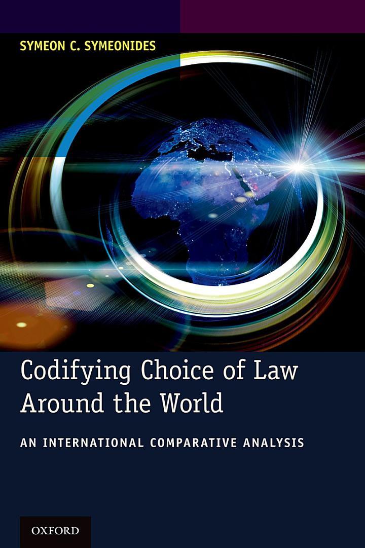 Codifying Choice of Law Around the World