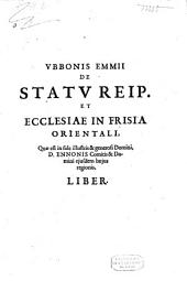 De statu reipubl. et ecclesiae in frisia orientali