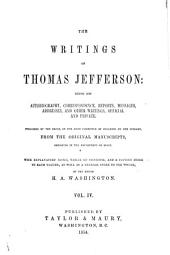 The Writings of Thomas Jefferson: Correspondence, cont