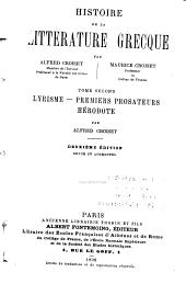 Histoire de la littérature grecque: Volume2