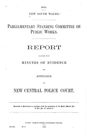 Reports on Public Buildings