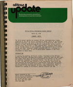 Africa Policy Information Center Seminar, March 18, 1974