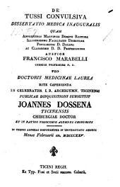De Tussi convulsiva dissertatio medica inauguralis