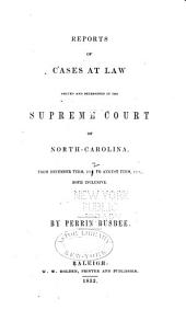 Cases at Law Argued and Determined in the Supreme Court of North Carolina: Volume 44