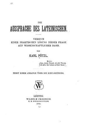 Die Aussprache des Lateinischen     PDF