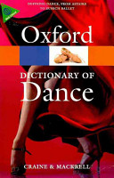 The Oxford Dictionary of Dance PDF