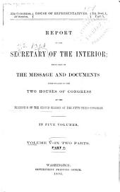 Annual Reports of the Department of the Interior ...: Volume 5, Part 2