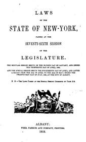Laws of the State of New York: Volumes 1-2