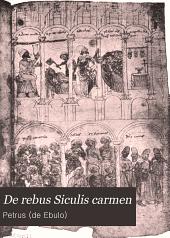 De rebus Siculis carmen: Volume 31,Parte 1