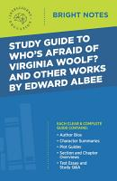 Study Guide to Who s Afraid of Virginia Woolf  and Other Works by Edward Albee PDF