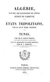 Algérie: Etats tripolitains