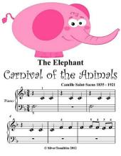 The Elephant Carnival of the Animals - Beginner Tots Piano Sheet Music