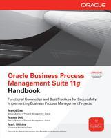 Oracle Business Process Management Suite 11g Handbook PDF