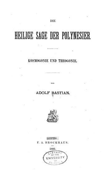 Die heilige sage der Polynesier PDF