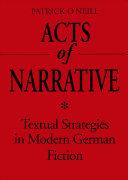 Acts of Narrative PDF