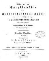 Allgemeine Encyklopädie der Wissenschaften und Künste: in alphabetischer Folge. ¬Section ¬2, H - N ; Theil 13, Hypha - Hyzne. Nachträge: Haagen - Hystrix. I - Jacobi. 2,13
