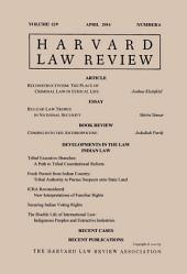 Harvard Law Review: Volume 129, Number 6 - April 2016