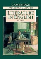 The Cambridge Paperback Guide to Literature in English PDF