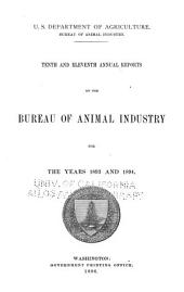 Report of the Chief of the Bureau of Animal Industry for ...