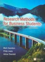 Research Methods for Business Students PDF