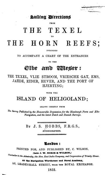 Download Sailing Directions from the Texel to the Horn Reefs Book